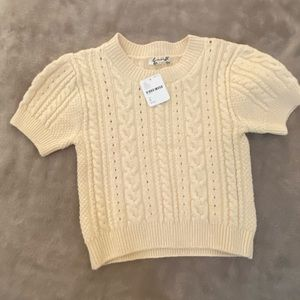FP stretchy sweater crop top